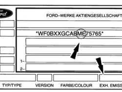 Паспортная табличка ее расшифровка и где находится Форд