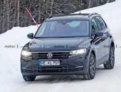 Обновленный Volkswagen Tiguan проходит дорожные тесты