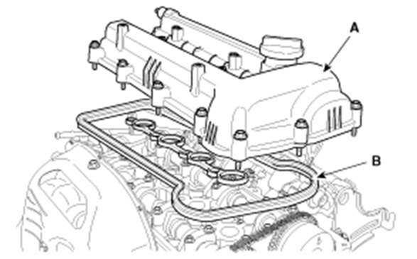 Крышка ГБЦ двигатель G4FA G4FC