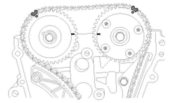 Метки распредвалов двигатель G4FA G4FC
