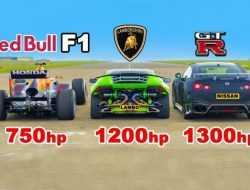 Видео: болид Формулы-1 против форсированных Lambo Huracan и Nissan GT-R